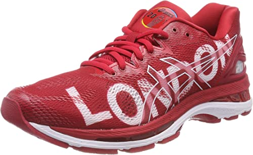 Asics Gel-Nimbus 20 London Marathon, Zapatillas de Running para Mujer, Rojo (Classic Red/Classic Red/White 2323), 36 EU: Amazon.es: Zapatos y complementos