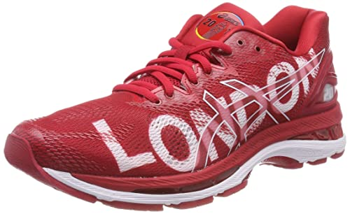 the sale of shoes exclusive deals quality design ASICS Damen Gel-Nimbus 20 London Marathon Laufschuhe, Rouge/Blanc