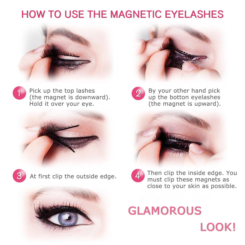 Amazon Magnetic Eyelashes No Glue Dual Magnets Natural False