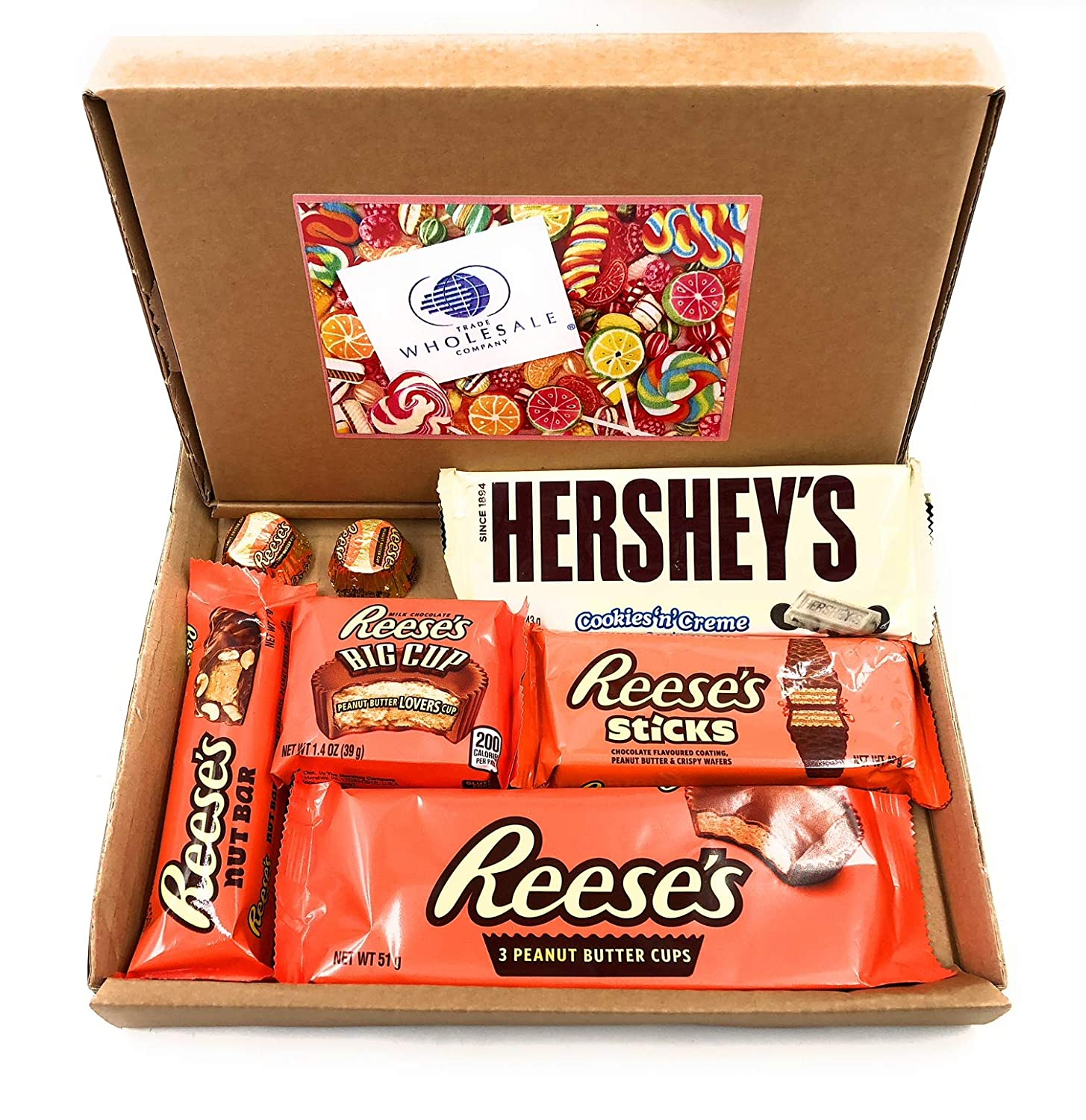 MISTERY BOX REESESS Y/O HERSHEYS OF AMERICAN SNACKS CHOCOLATE SABOR AMERICANO REGALO PERFECTO IDEA PEANUT BUTTER PEANUTS CHOCOLATE KUTTER CUP AMERICAN BOX ...