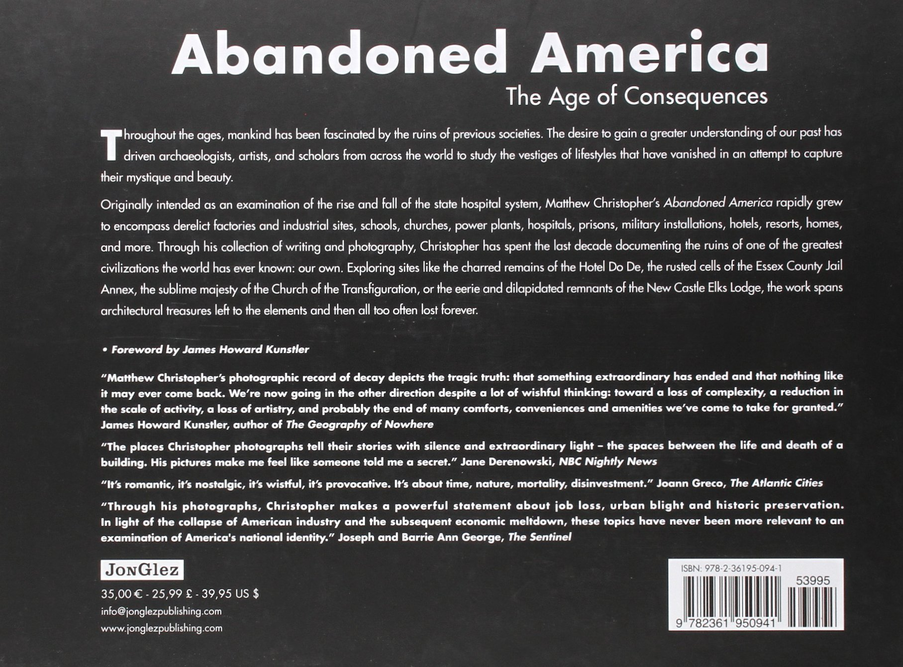 Abandoned America: The Age Of Consequences: Matthew Christopher, James  Howard Kunstler: 9782361950941: Amazon: Books