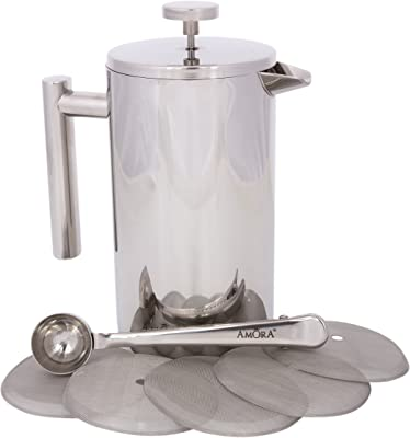 Amora 8-cup Stainless Steel French Press Coffee Maker