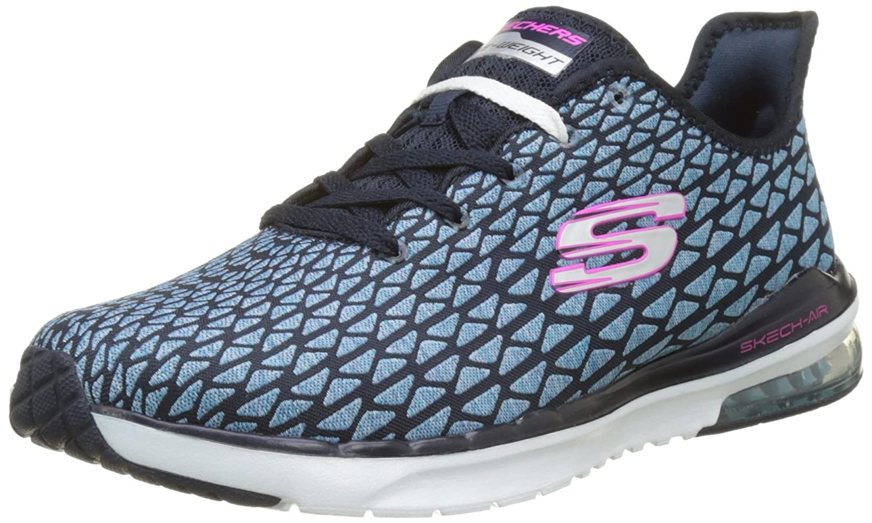 Skechers Sport Women's Skech Air Infinity Free Falli Fashion Sneaker B01MSK276M 8 B(M) US|Navy/Turquoise