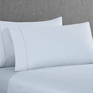 UGG Yana 350 Thread Count 100% Egyptian Cotton Fabric Sheet Set, (Ocean Mist, Queen)