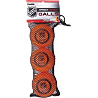 Franklin Sports NHL - Pelota de Hockey de Alta Densidad, 3 Unidades
