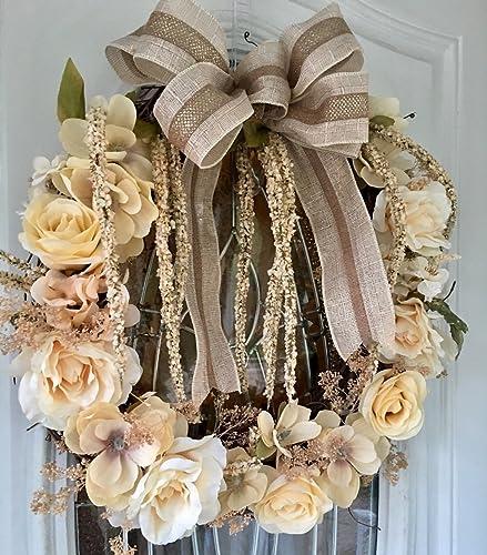 Merveilleux Handmade 19 Inch Vintage Indoor Outdoor Grapevine Wreath, Wedding Wreath,  Spring Wreath, Summer
