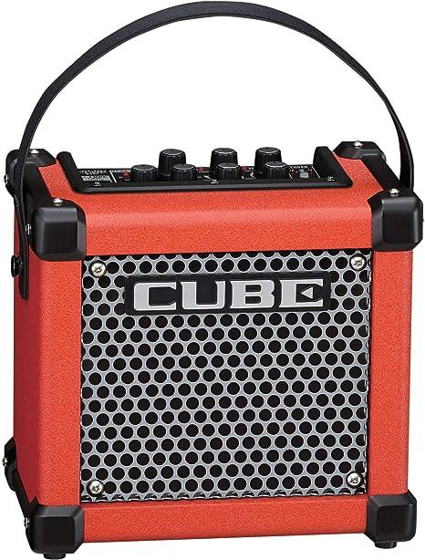 Roland Micro Cube GX 3W 1x5 con pilas guitarra Combo Amp Rojo rojo ...