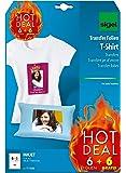 Sigel T1156 Tintenstrahldrucker Transfer-Folien für helle Stoffe / T-Shirts, 12 Blatt A4