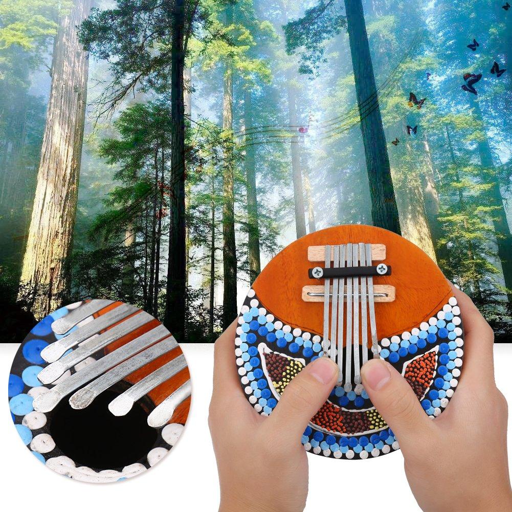 VGEBY 7 Key Kalimba Thumb Piano, Tuneable Coconut Shell Finger Thumb Piano by VGEBY (Image #9)