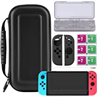 Bestico Protector Kit per Nintendo Switch, Switch Accessori 7 in 1 include Switch Custodia/Game Card Case/3pcs HD Pellicole Protettive per Nintendo Switch/Cover Protettiva in silicone Joy-Con