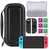 Bestico Protector Kit per Nintendo Switch, Switch Accessori 4 in 1 include Nintendo Switch Custodia/Case per Game Card /3pcs HD Pellicole Protettive per Nintendo Switch / Cover Protettiva in silicone Joy-Con