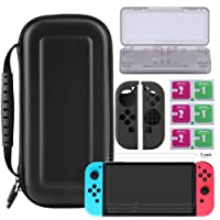 Bestico Protector Kits for Nintendo Switch, Switch Protection Accessory includeNintendo Switch CarryingCase /Game Card Case/3 PieceClear HD Full Coverage Nintendo switch Screen Protector/Joy-ConSilicone Protective Cover Skin. … (kits)