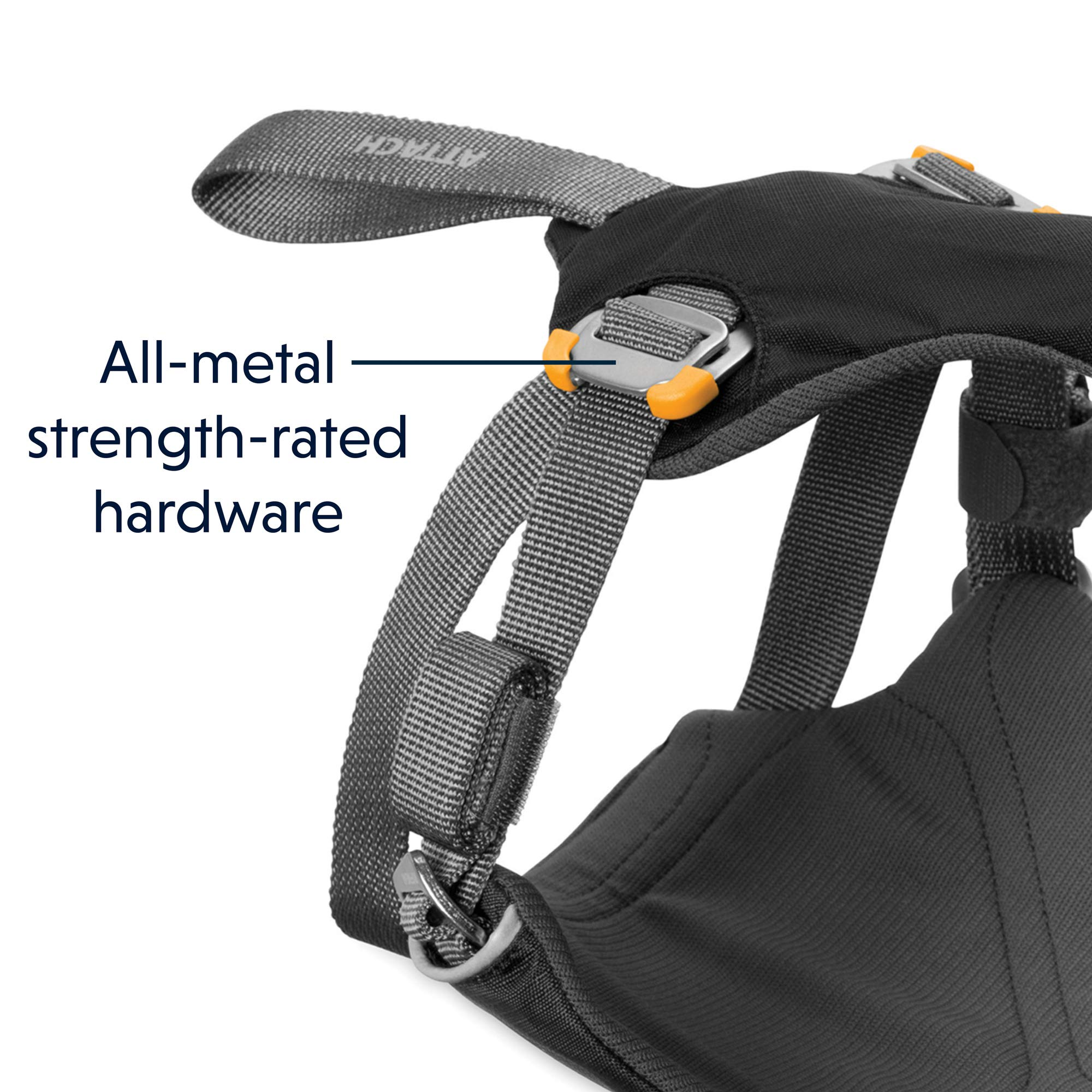 RUFFWEAR - Load Up, Dog Car Harness with Strength-Rated Hardware, Secure Vehicle Restraint, Universal Seat Belt Attachment, Obsidian Black, Medium by RUFFWEAR (Image #5)