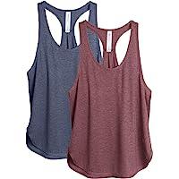 icyzone Camiseta sin Mangas de Fitness para Mujer