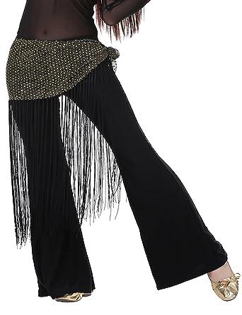 Belly Dance Costume Tribal Tassel hip scarf wrap belt Skirt Fringes 10 colors