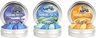 product image for Crazy Aaron's Thinking Putty Triple Pack (3 0.47 oz Tins) - Hypercolor Color Changing Three Pack - Shine Bright, Twilight, Sunburst