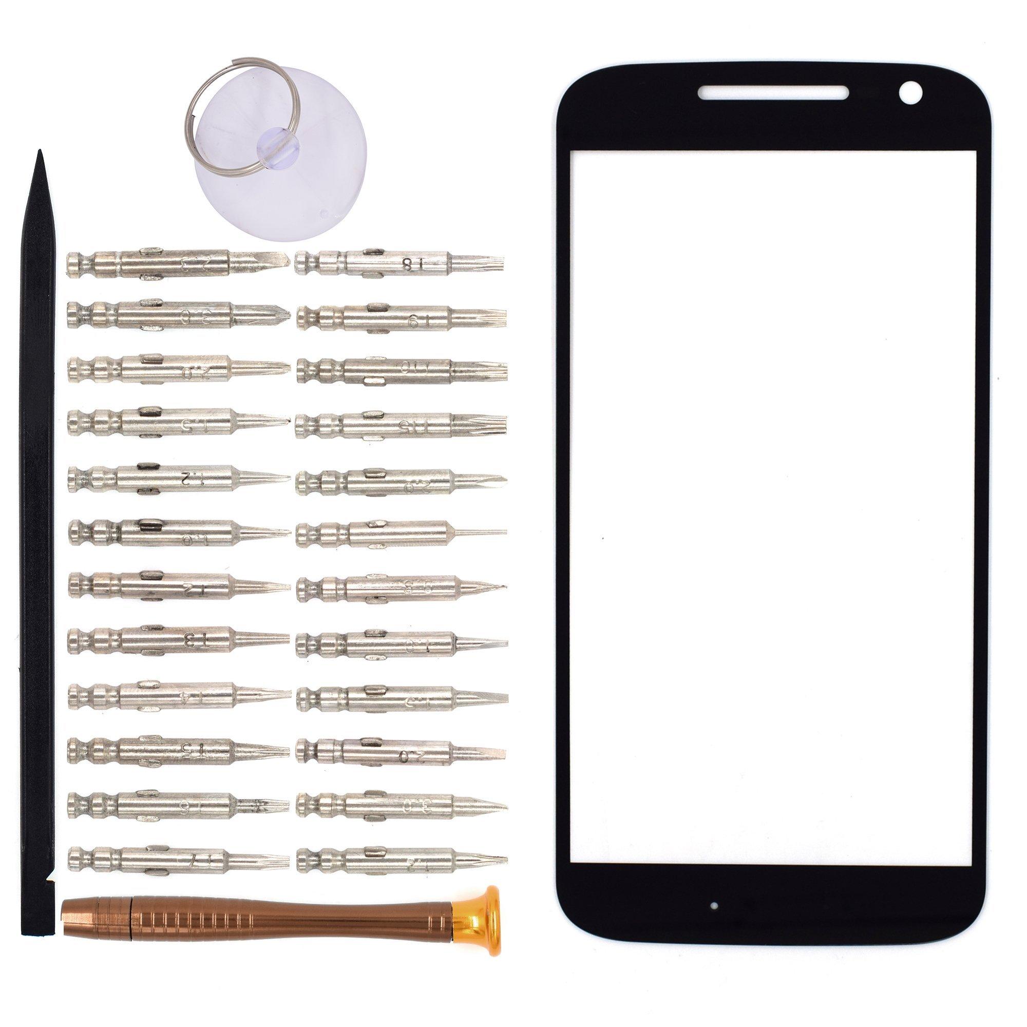 Vidrio Frente para Motorola Moto G4 negro [GOODYITOU]
