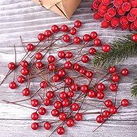 TUPARKA 300 Piezas Bayas de Acebo de Navidad