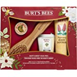 Burt's Bees Mani Pedi Holiday Gift Set, 4 Hand & Feet Products - Hand Cream, Cuticle Cream, Foot Lotion and EcoTools Foot Brush & Pumice