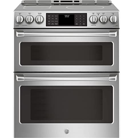 electric range 30 inch ge cafe chs995selss 30 inch slidein electric range with smoothtop cooktop 23 cu amazoncom