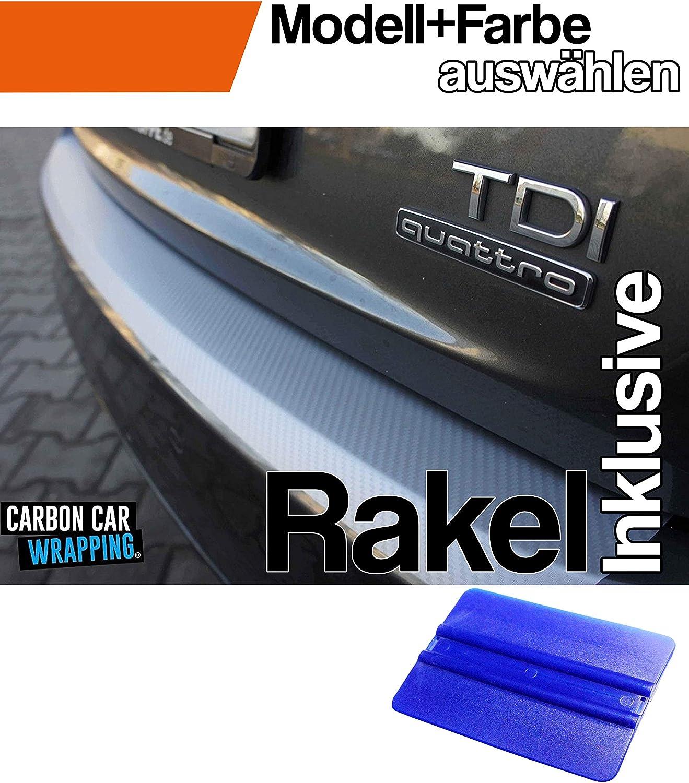 Corsa E Ladekantenschutz Lackschutzfolie mit Profi-Rakel von WIZUALS/© mit Profi-Rakel in 3D Carbon Schwarz