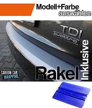 5er F10 Limo Ladekantenschutz Lackschutzfolie von CCW/© mit Profi-Rakel in 3D Carbon Schwarz