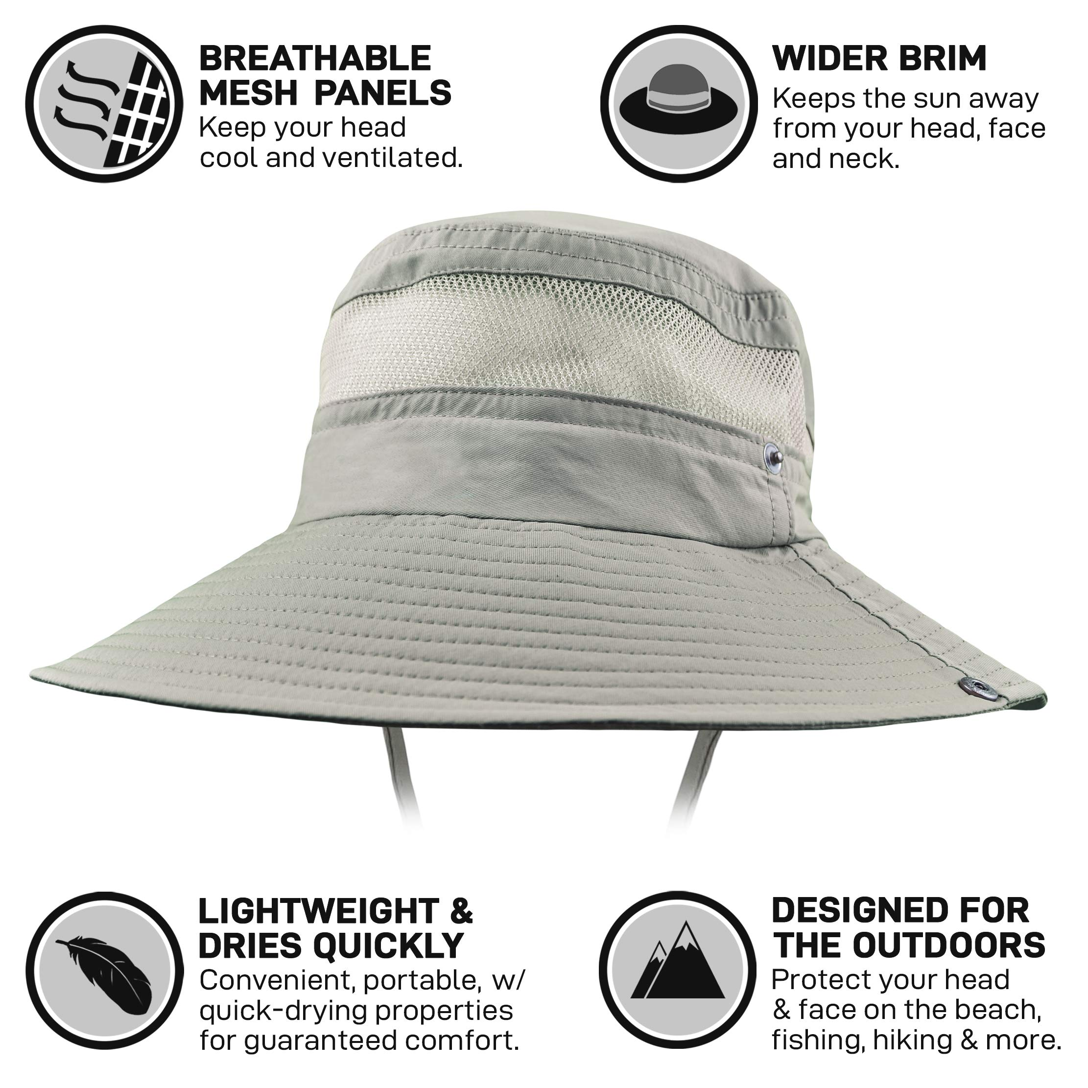 GearTOP Fishing Hat (Khaki - 2 Pack) by GearTOP (Image #5)