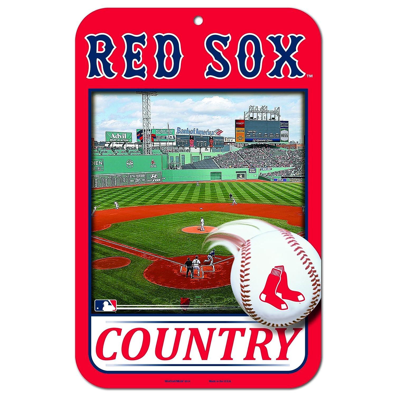 11 x 17国プラスチックStreet Sign MLBボストンレッドソックス B013RKOA9Q