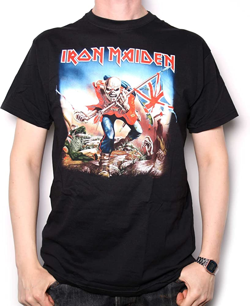 Iron Maiden T-Shirt The Trooper Official: Amazon.es: Ropa y accesorios