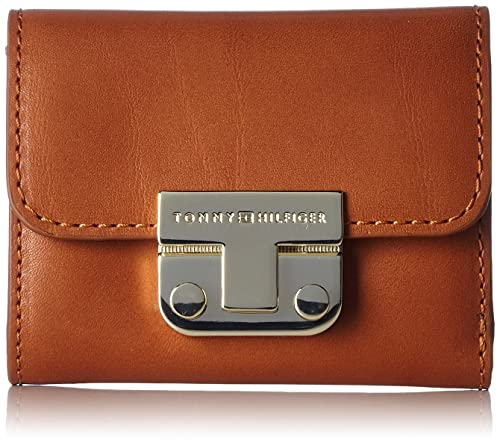 Tommy Hilfiger - Fashion Hardware Small Flap Wallet, Carteras Mujer, Red (Cognac), 10x1x8 cm (LxBxH): Amazon.es: Zapatos y complementos