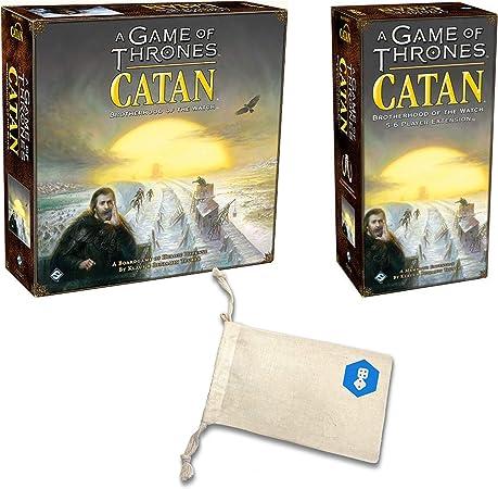 Catan de Juego de Tronos con un Juego de Tronos Catan 5-6 Player Extension Bundle | Incluye práctica Bolsa de Almacenamiento con cordón con Logotipo de los Jugadores de Juego Impreso: Amazon.es: