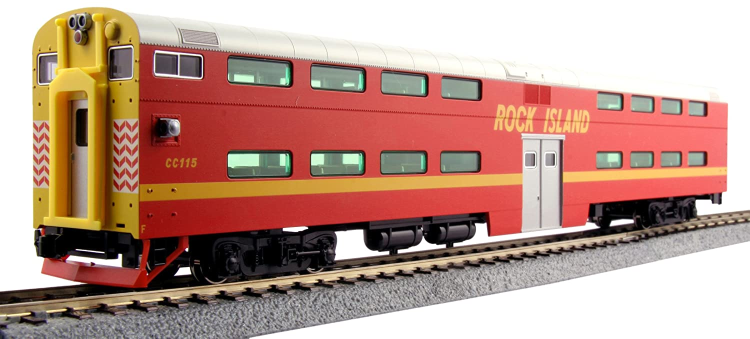 Kato USA Model Train Products Pullman Rock Island #CC115 Bi-Level 4-Window Cab Coach Kato Trains 35-6024