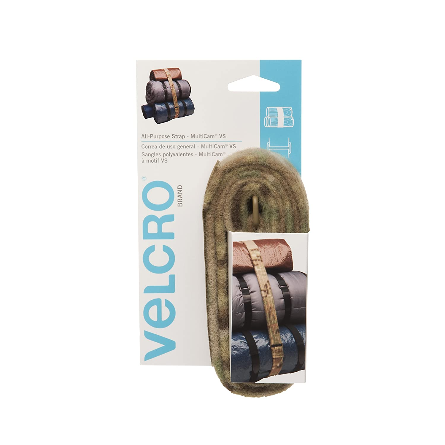 VELCRO Brand All-Purpose Strap | Strong & Reusable | Perfect for Fastening Wires & Organizing Cords | Camouflage, 6ft x 1 1/2in VELCRO USA VELCRO® Brand 91758