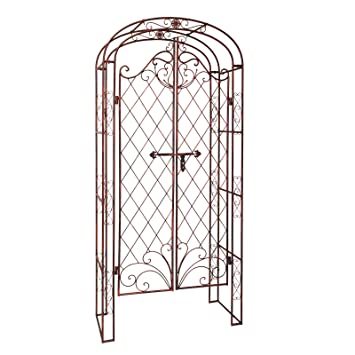 Arche - Porte de jardin romantique aspect ancien: Amazon.fr: Bricolage