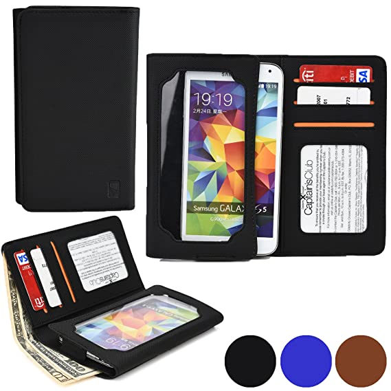 Cooper Cases(TM) Infinite Wallet Motorola Droid Turbo Case in Black (PU Canvas