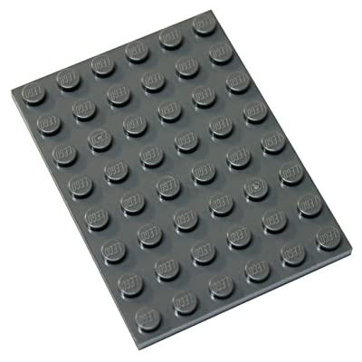 LEGO Parts and Pieces: Dark Gray (Dark Stone Grey) 6x8 Plate x1: Toys & Games