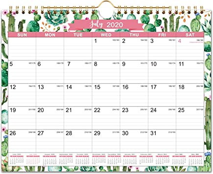 Amazon Com 2020 2021 Calendar 18 Monthly Wall Calendar 11 X 8 5 Jul 2020 Dec 2021 Twin Wire Binding Ruled Blocks With Julian Dates Perfect For Planning And Organizing For Home Or Office Office Products