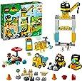 LEGO 10933 DUPLO Stor Byggplats, Tornkran & Byggfordon, med Ljus och Ljud