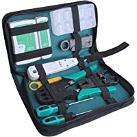 ID Max Professional Network Computer Maintenance Kit d'outils de réparation avec étui de rangement et fermeture à glissière, 18pièces