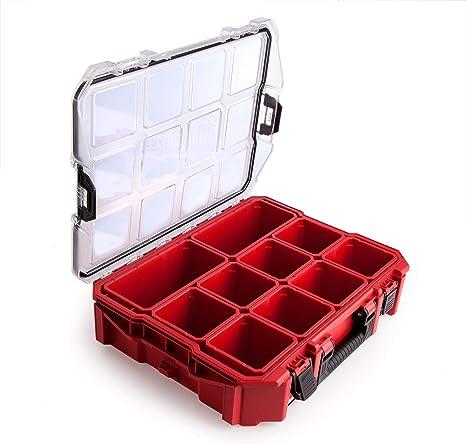 Milwaukee - Organizador Apilable Y Junta Estanca Con 10 Compartimentos: Amazon.es: Bricolaje y herramientas