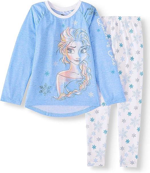 Girls Kids Frozen II Pyjamas PJs Anna Elsa Nightwear 18 months to 5 Years Blue