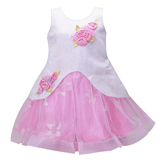 a85970aaa6c9 Prince & Princess Baby Girl's Net Frock Dress (Frock_245P1, Pink, 3 - 6