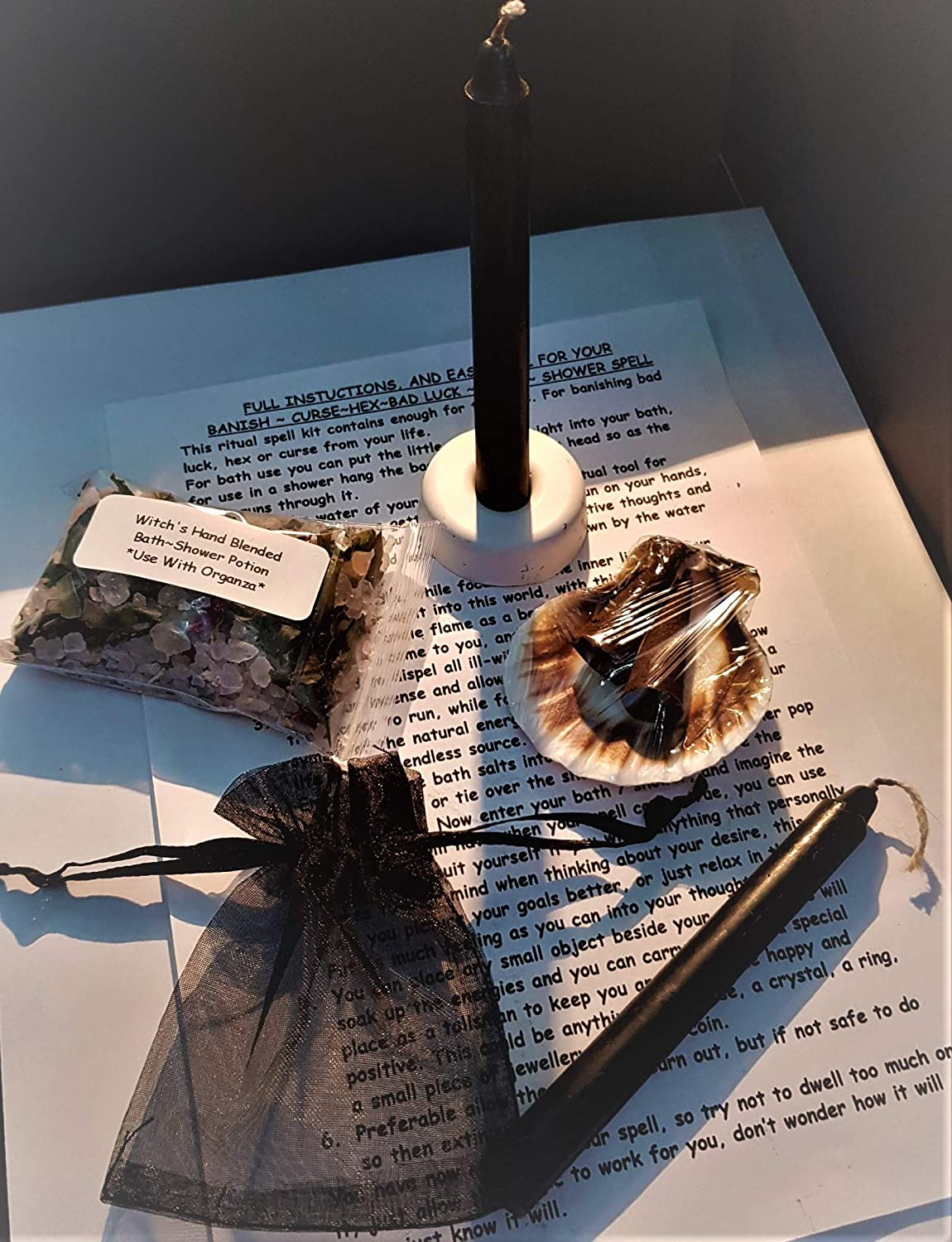 Complete Spell Kit ~ BANISH HEX, CURSE, ILL-WILL & BAD LUCK~ Potent