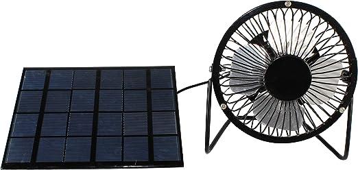 Ventilador portátil de 3 W con panel solar de 4 pulgadas USB para ...