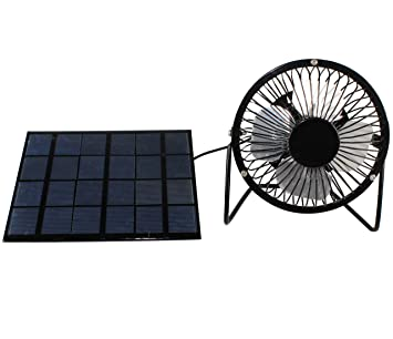 Peakstrom 3W Solar Panel Powered 4'' USB Mini Fan Portable Ventilator for  Trailer Chicken House RV Greenhouse Roof Vent