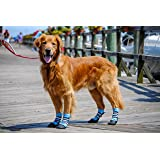 Bark Brite New Lightweight Neoprene Paw Protector Dog Boots Designed for Comfort and Breathability in 5 Sizes