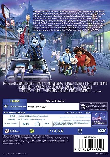 Onward [DVD]: Amazon.es: Tom Holland, Chris Pratt, Julia Louis-Dreyfus, Dan Scanlon, Tom Holland, Chris Pratt, Dan Scanlon: Cine y Series TV