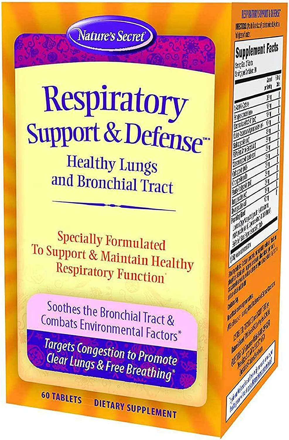 Nature's Secret Respiratory Support & Defense Tabs-60 ct
