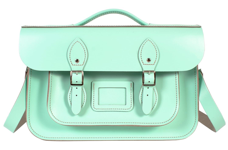 Oxbridge Satchels - Bolso estilo cartera de Piel para mujer Verde verde menta: Amazon.es: Zapatos y complementos