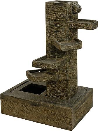 korb.outlet kaskaden Agua Unidad de Piedra/Agua Parte Brunnen de 4 Niveles/ Jardín Brunnen Deko-Shop-Hannusch – Fuente para casa y jardín (para Interiores y Exteriores): Amazon.es: Juguetes y juegos